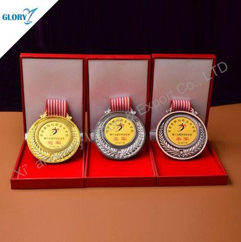 Best Quality Gold Silver Bronze Medal With Velvet Box For School