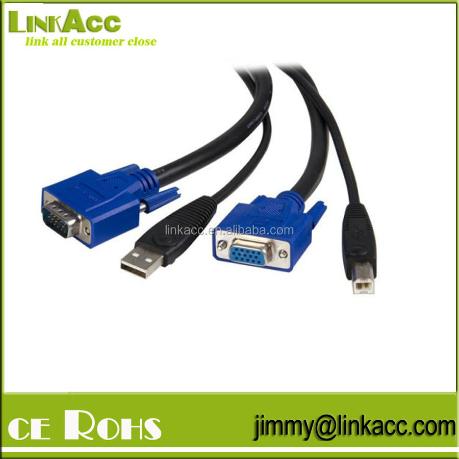 Linkacc-j2m 2 in 1 USB KVM Cable
