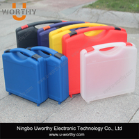 custom colour pp material good price portable plastic equipment carry case with handle