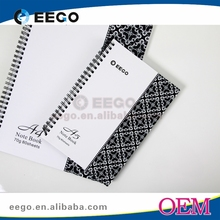 Office and school supply A5 spiral notebook with color pages