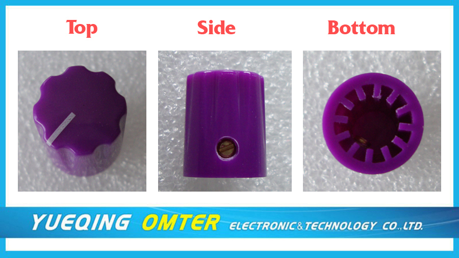 1084 1/4 Colored Shaft Knob for Potentiometer Knobs