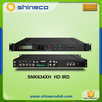 Satellite IRD with Multiplexer function, 2 channel mpeg-2/h.264 HD Satellite Decoder IRD
