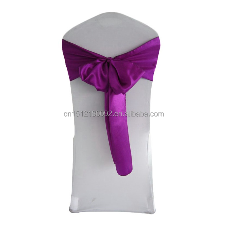 Spandex Chair Covers Wedding Decoration Satin Chair Sashes