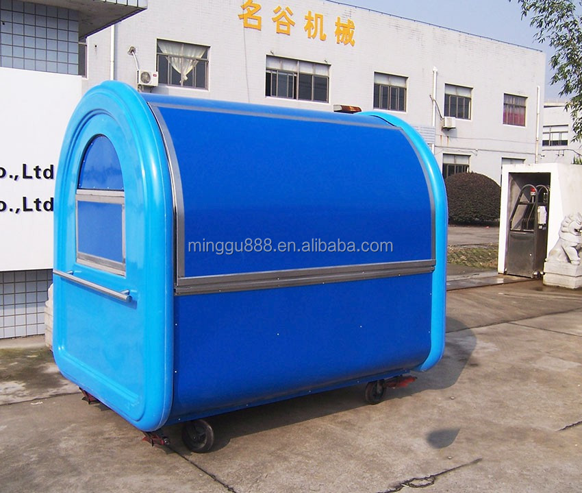 Mobile corn steamer caravan trailer cart, fabrica de trailer de lanches, mobile food trolley van