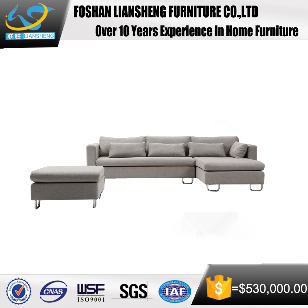 wholesale furniture leisure liivng room furniture fabric corner sofa set with stool sofa couch