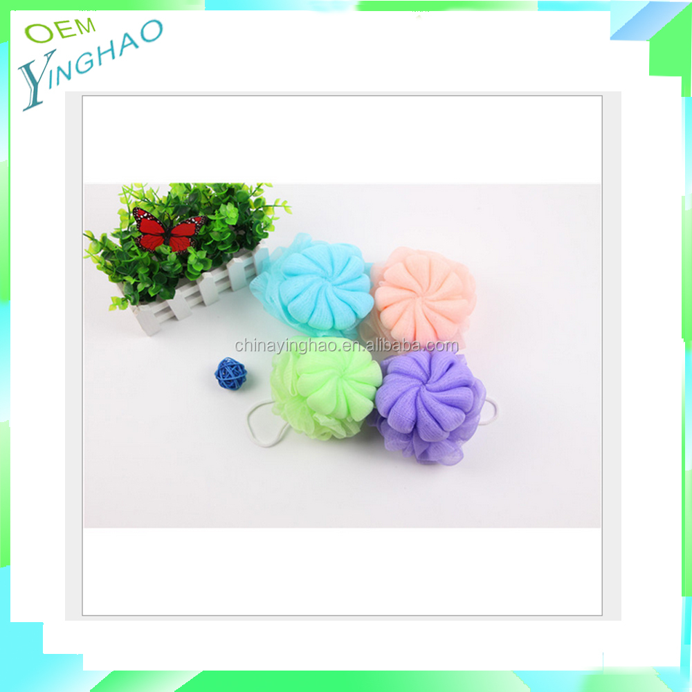 Back Scrubber Loofah Mesh Bath Sponge/promotional colorful nylon bath brush mesh, bath