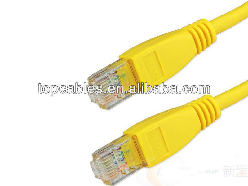 yellow utp cat 5e lan ethernet cable, bulk network cable