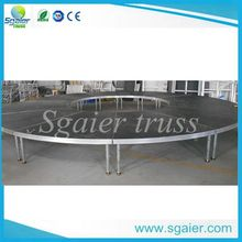 customized aluminum portable circle stage used for school activities with CE&TUV certificate