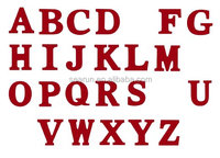 8-Inch Wall Hanging Wood Letter Red Letter