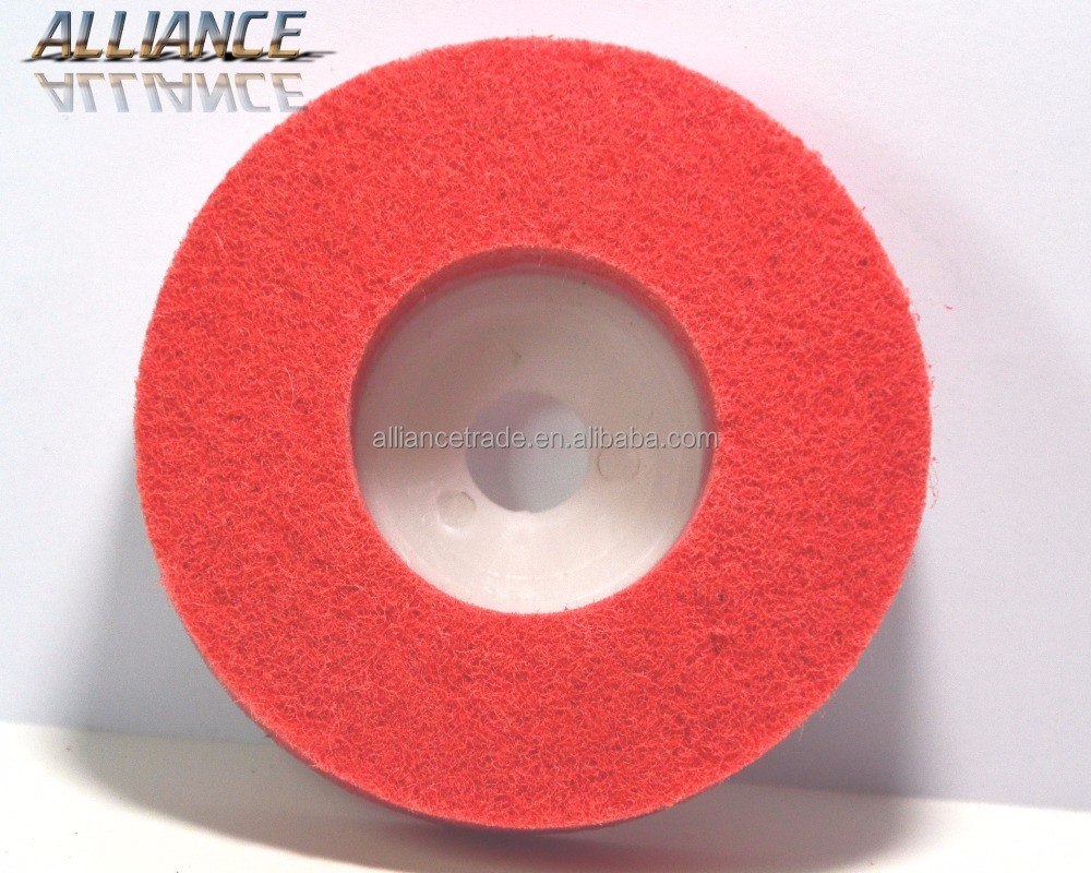 China non woven polishing and buffing wheel for metal & stainless steel