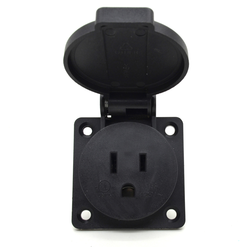 Round Cover UL Certificate US IP54 waterproof receptacle floor socket outlet