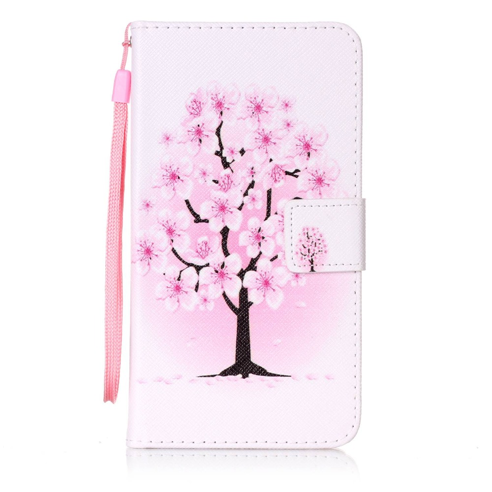 Painted Flip Case Wallet Leather Cover for Wiko fever 4G Colored Drawing flip case