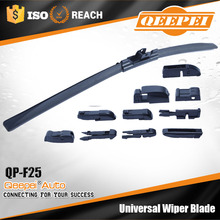 Online wholesale small MOQ(300sets a LOT) multi-clip soft frameless reflex windscreen front wiper blade with 10 clips