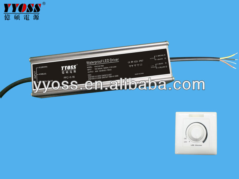 700mA 1500mA dimmable led driver 700mA 60W 1400ma 1500ma 1750mA PF>0.95 CE&ROHS 3 year warranty