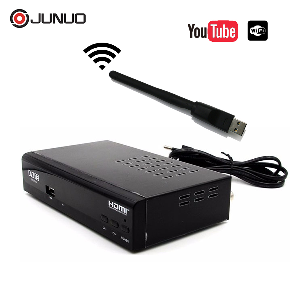 DVB T2 Terrestrial Receiver MPEG-2/-4 H.264 FTA Set Top Box with USB wifi Dongle Support YouTube