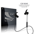 Waterproof Sweatproof Metallic Stereo Headset R1615S Sports Headset And Cable Control..