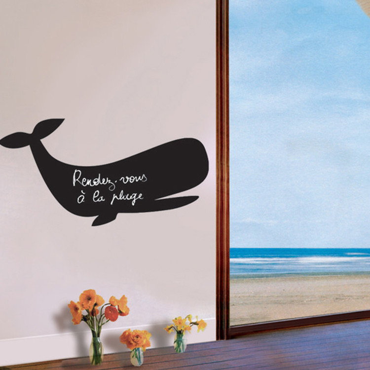 ALY-CBK324 Whale Shape Children Write Painting Wall Blackboard Stickers