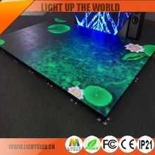 Power Saving image photos hot p10 LED video dance floor/disco floor factory price/LED display screen