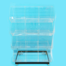 high quality clear acrylic display <strong>shelves</strong> for retail stores,15 compartments retail display