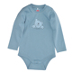 High quality sky blue cotton plain solid baby winter bodysuit design your own bodysuit