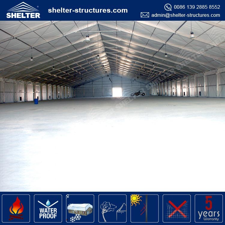 40 by 80 tent ABS wall rent warehouse china storage tents and container shelter
