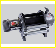 12v/24v dc fastest winch line speed , ce appoved wireless remote 20000 lb winch , heavy duty biggest winch ningbo