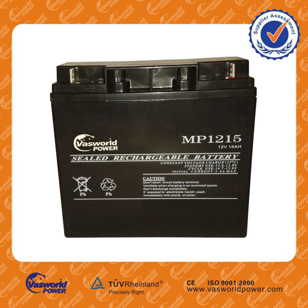15ah Vrla rechargeable sealed lead acid battery for electronic charging lead acid battery