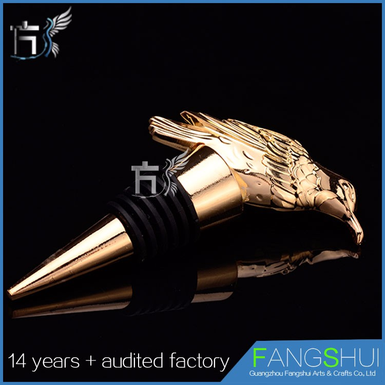 decoration zinc alloy wine bottle stopper wedding