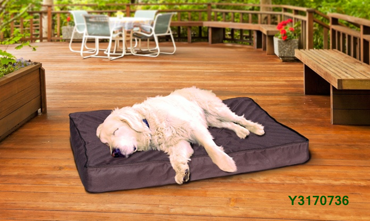 Hot Sale 2-in-1 Indoor/Outdoor Waterproof Pet Bed with Removable Sherpa Blanket