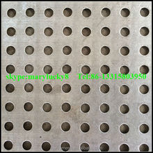 ISO:9001 3mm hole Perforated Metal Mesh Factory/galvanized perforated metal mesh