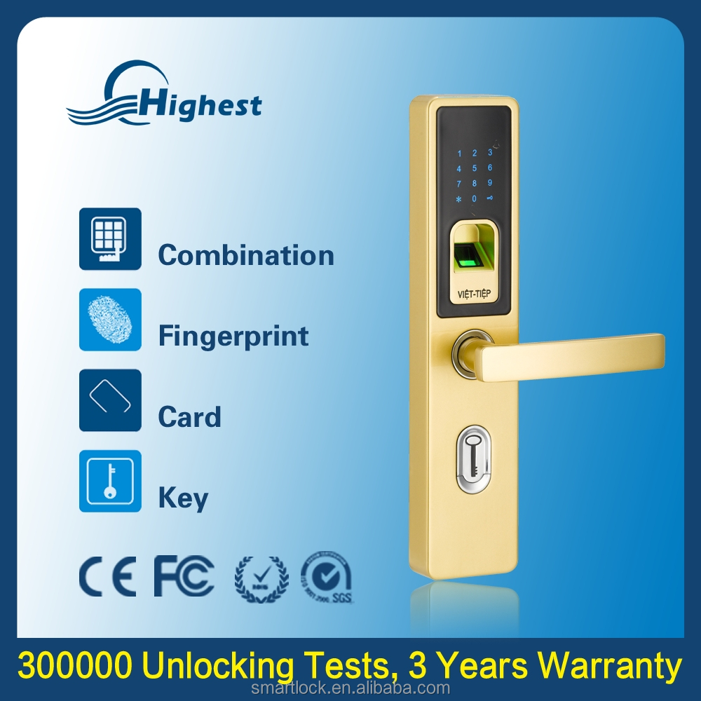 Cheap Main Outdoor Biometric Security Gate Door Door Lock Products, Electronic Smart Fingerprint Keyless Door Lock Price List