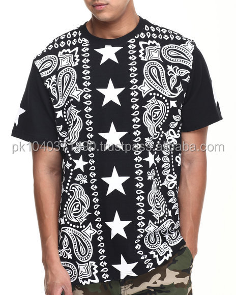 custom latest middle of the shirt stars and side beautiful design Sublimation t shirt Full Graphic Printed T-shirt