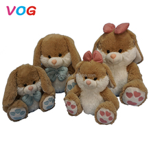 Fashion custom love valentine rabbit plush animal cute bunny toy for kids toys bedding decoration