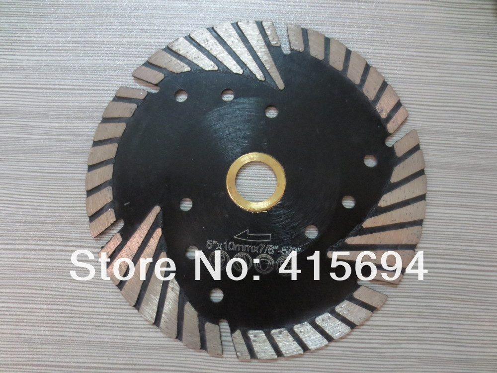 125X10X22.23-15.88mm hot pressed MG turbo diamond saw blade for tiles, ceramic,granite,marble,bricks and concrete