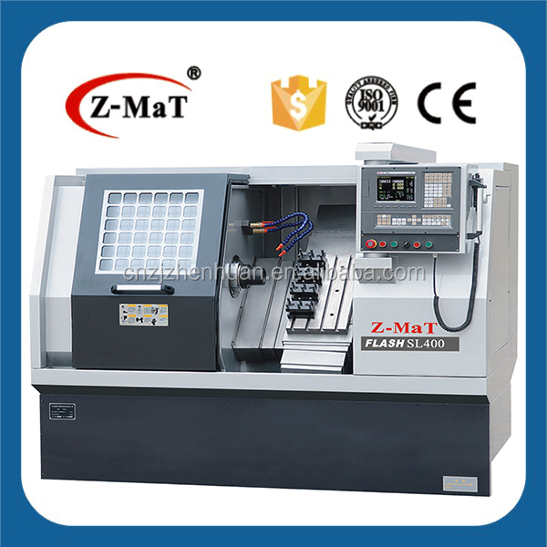 SL400 Live tooling ( optional ) Linear Motion Guideway 45 degree slant bed structure CNC Machine Tool