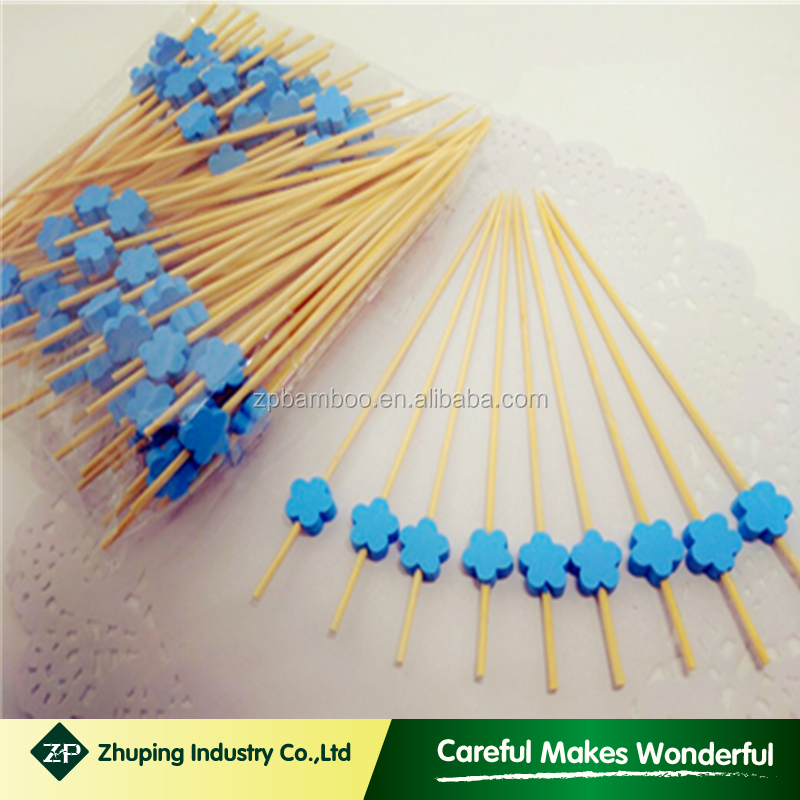 ZHUPING customized bamboo toothpicks beaded