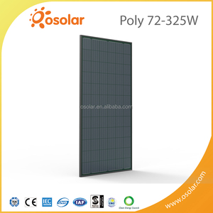 New Solar Photovoltaic Technology 325w 72 cells black poly PV Module