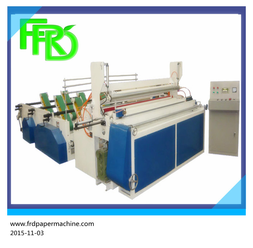 Famous toilet paper rewinding and cutting machine and production line