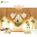 indian silk flower backdrop curtain for weddings decoration