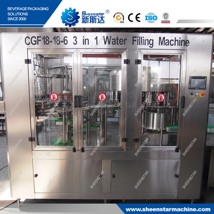 Professional water line manufacturer pop bottle filling machine