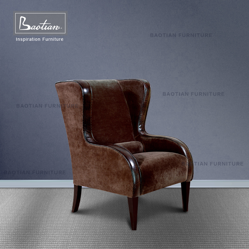 commercial general use Synthetic Leather wooden chair for hotel furniture
