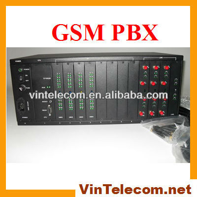 Wireless pbx telephone system 128 extensions pbx GSM+PSTN