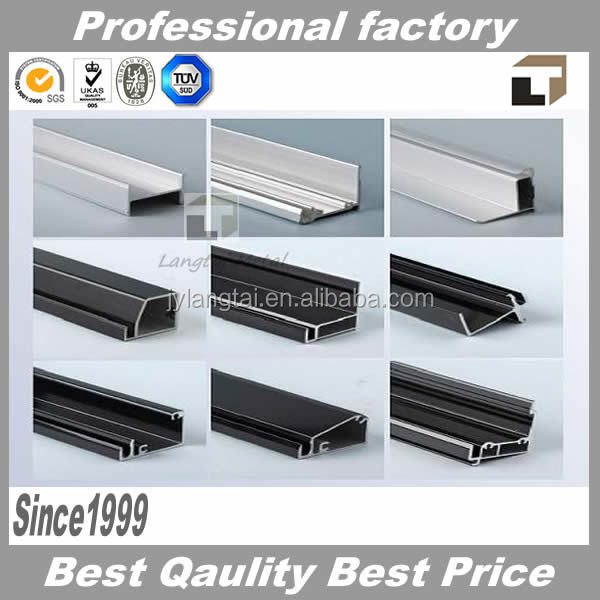 PV Module or Solar Panel Frame Black Anodized Aluminum Profile
