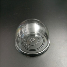 Disposable plastic pet cake tray with lid