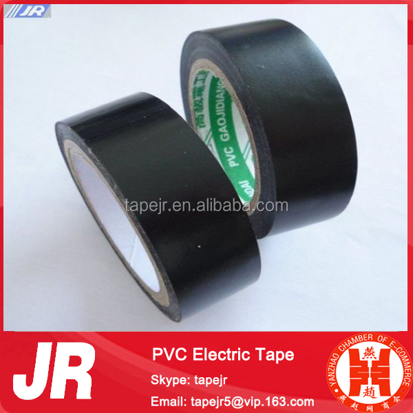 Black PVC Electrical Tape, High Quality Shijiazhuang PVC Insulation Tape