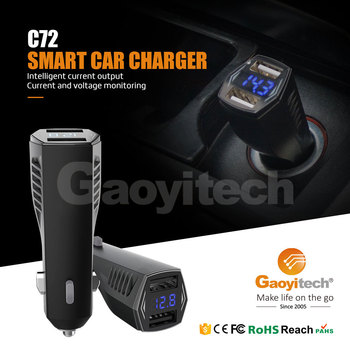 LED Display Car Dual USB Charger Intelligent Identification IC 5V 4.8A