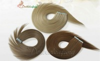Brazilian virgin tape hair extension Ombred in hair extension100% human hair for white women