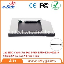New SATA 2nd HDD Caddy For E6400 E6500 E6410 E6510 Series Laptop E6400 2nd Hard Disk Caddy With Eject Button