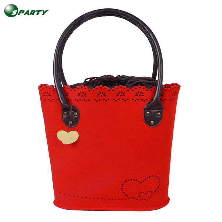 Alibaba stylish high quality felt shopping bag for women
