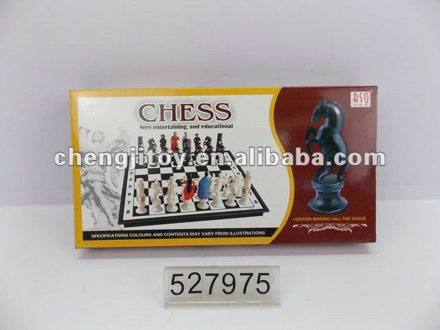 Magnetic plastic chess